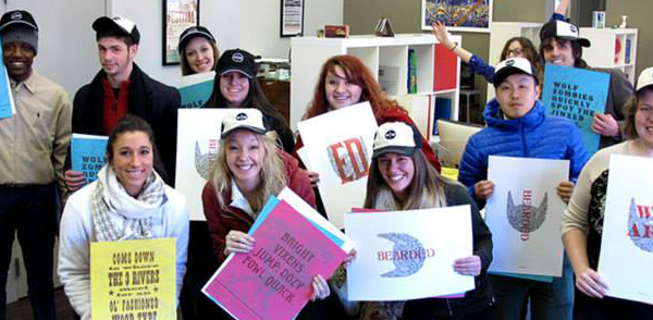 Students on a studio tour in Pittsburgh